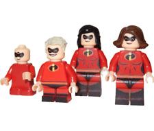 x4 **NEW** LEGO Custom Printed THE INCREDIBLES Minifigures - Elastigirl Dash etc