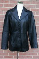 New York & Company Women's Black Leather Jacket Size S