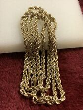 10 kt yellow gold 5.6 Grams rope chain lobster lock scrap or wear 3mm