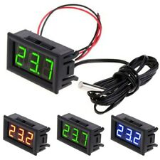 DC 5V-12V Digital LED Thermometer -50~ 110°C Car Meter Probe Monitor Temperature