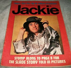 JACKIE MAGAZINE October 1972 NODDY HOLDER Slade PAUL McCARTNEY Vintage TEENAGE