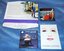 CYNDI LAUPER - SHINE + AT LAST + THE BODY ACOUSTIC MAGNETS CONCERT SOUVENIRS NEW