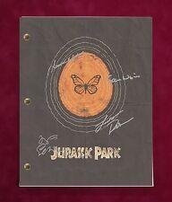 "JURASSIC PARK MOVIE SCRIPT W/ REPRODUCTION SIGNATURES NEILL DERN & GOLDBLUM ""C3"""