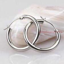 Hot Sale HOOP Silver 316L STAINLESS STEEL Teen Girls Children Kids Earrings