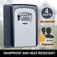 Rain Proof Weather Resistant 4 Digit Wall Mount Key Box Outdoor Locker Security