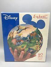 "Disney Esphera 60 PC Jigsaw Puzzle Cast of Characters Amazing 3D Plastic Ball 6"""