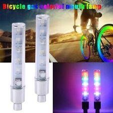 2Pcs LED Flashing Light Bicycle Bike Tyre Tire Wheel Valve Spoke Cap Bright Lamp