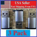 3 PACK USB C 3.1 Type C Female to USB 3.0 Type A Male Port Converter Adapter SLV