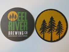 Beer Coaster ~ EEL RIVER Brewing Co ~ Fortuna, CALIFORNIA ~ Never Straight; Tree