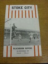 08/09/1965 Stoke City v Blackburn Rovers  (very faint marks). We try and inspect
