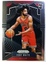 2019-20 Panini Prizm Base Coby White Rookie RC #253, Chicago Bulls