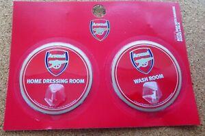 Arsenal FC Pair Of Robe Hooks (Home Dressing Room & Wash Room) - FREE POSTAGE!