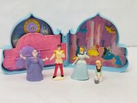 Once Upon a Time Cinderella Playset Case Vintage 1990s Disney Princess Toys