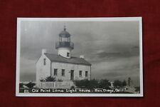 Old Point Loma Lighthouse, San Diego California Postcard - Real Photo Rppc