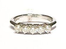 anello veretta in oro bianco con 5 diamanti ct 0,47 colore G VVS1 n 12