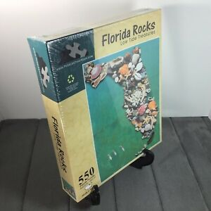 Jigsaw Puzzle 550 Pcs FLORIDA ROCKS LOW TIDE TREASURES Made In USA Of Recycled!