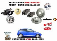 PER FORD FOCUS ST170 2.0i 02-05 ANT + POST DISCHI FRENO SET & KIT PASTIGLIE