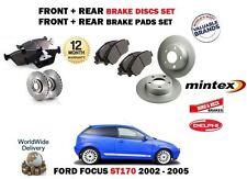 FOR FORD FOCUS ST170 2.0i 2002-2005 FRONT + REAR BRAKE DISCS SET & DISC PAD KIT