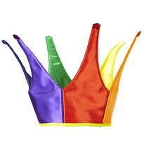 RAINBOW CROWN HAT GAY PRIDE MULTI COLORED FANCY DRESS HEAD WEAR