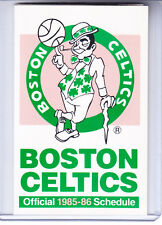 1985-86 BOSTON CELTICS BASKETBALL POCKET SCHEDULE