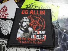 GG ALLIN Anal Cunt Patch Grindcore Hard ROCK Anal Cunt
