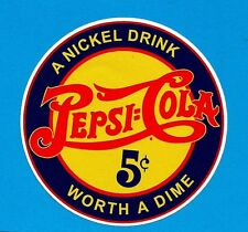 PEPSI COLA LABEL Sticker Decal VINTAGE RETRO COCA COLA POSTER BUTTON