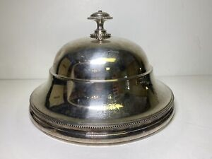 Vintage Christofle Beaded Silver Plate Cloche Meat Dome Cover