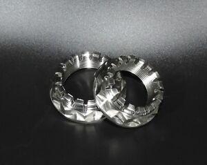 Ducati Rear Axle Wheel Nuts Double Hex 2 off Titanium 748 916 996 998