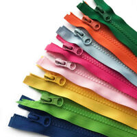 Chunky Open Ended Zip Plastic Teeth - Choice of 14 Colours & 11 Zipper Lengths