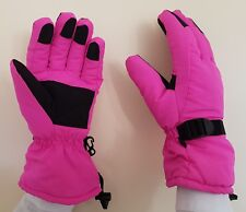 TOP QUALITY PADDED WARM SKI GLOVES. HELP TO KEEP YOUR HANDS WARM. PINK  MEDIUM
