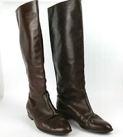 The J Peterman Company Lexington Kentucky Women Leather Riding Boots Sz 7B Brown