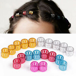 10/20/30Pcs Adjustable Metal Cuffs Dreadlocks Beads Braiding Hair Decorations BC
