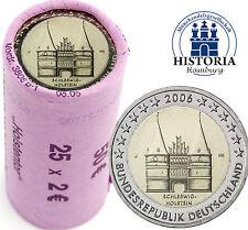 25 x 2 Euro Deutschland 2006 bfr. in Original Rolle Holstentor Mzz. J