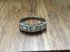 925 Sterling Silver *Size 6.25* T71 Beautiful Clear White Cubic Zirconia Ring