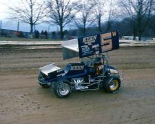 RANDY WOLFE #5W KEEN TRANSPORT SPRINT CAR ON TRACK 8X10 GLOSSY PHOTO #5