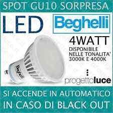 Lampadine led beghelli Lampada EMERGENZA Spot GU10  Luce calda e Luce Naturale