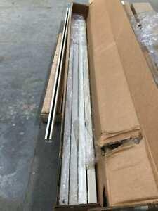 "Hubbell 6ft X 1-1/2"" Beige Painted Steel Bridge / Runway Rail 50lb -NIB of 5pcs"