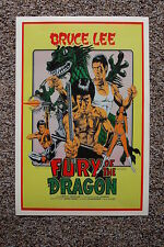 Fury of the Dragon Lobby Card Movie Poster Bruce Lee