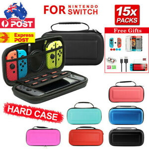 For Nintendo Switch Carrying Bag Hard Case Console Protect Shell Tempered Glass