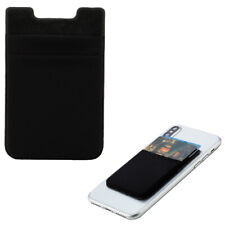 For Univeral Black Double-Layer Adhesive Stick On Wallet Card Pouch Holder