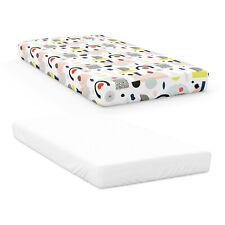 Goumikids 2 Piece Soft Baby Nursery Crib Sheet Bedding Set, Dream Big & White