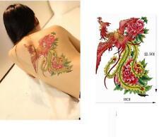 Large Removable Stickers Body Art Tattoo Waterproof Temp Tattoo--Green Pheonix