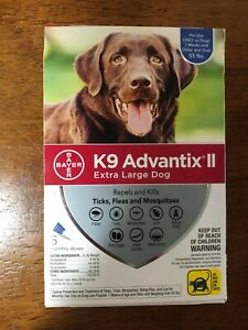 Bayer K9 Advantix II for Dogs Over 55lbs - Extra Large  6-Dose