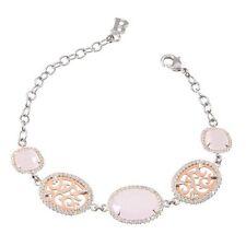 Bracciale Boccadamo bronzo rodiato zirconi cristalli briolette rosa Ref.XBR228R