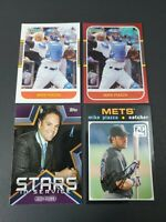 2021 Donruss & Topps Mike Piazza Card Lot of 4 Red Parallel Retro Inserts Base
