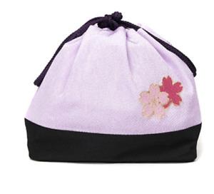 Japanese Traditional Kimono Yukata Hakama Small Pouch Bag Kinchaku White Sakura