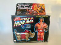 Vintage 1985 MOTU Bootleg Nebular Warlords Titan Iron Man He Man Zoids in Box