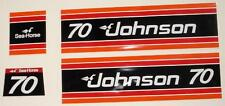 Johnson Outboard Hood Decals 1981 70 hp 3 cyl