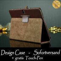 Custodia Protettiva per Samsung Galaxy Tab Pro 10.1 Sm T520 T525 Braun Pellicola