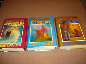 """Second Chronicles of Thomas Covenant""  Stephen R Donaldson  HC 3 books 1st. Ed"